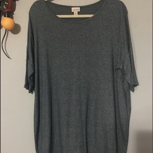 Brand New Heather Blue Irma Top Size Large